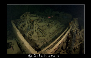 Motorcycles on Thistlegorm by Girts Kravalis 